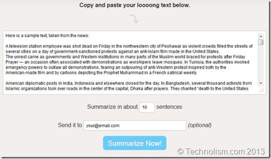 Free Summarizer - Shorten Text Online