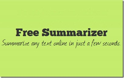 Free Summarizer